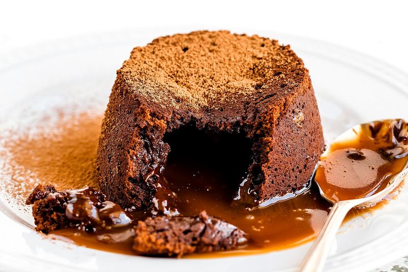 Receta del volcan de chocolate con dulce de leche