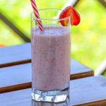 Batido smoothie de fresa y plátano